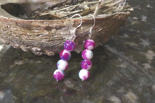 Water Color (4) - Earrings : French Hook Dangles
