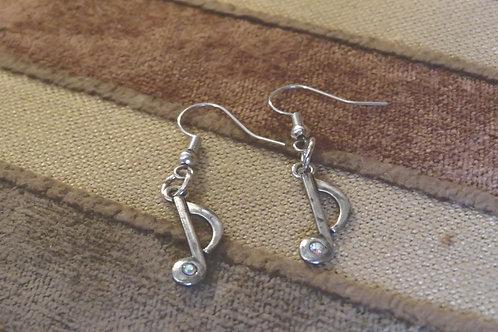 Music Note (1) - Earrings : French Hook Dangles