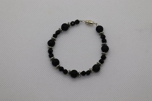 Black Lava Rock Black Onyx (34) - Bracelet : Beaded