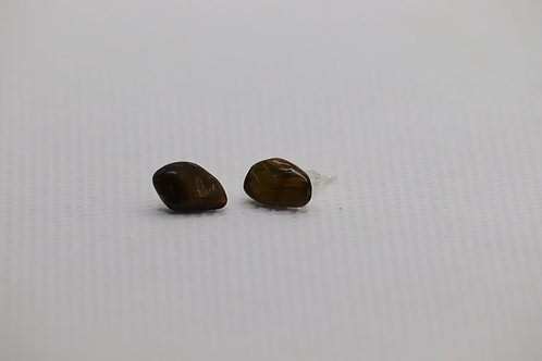 Tigers Eye (1) - Earrings : Studs