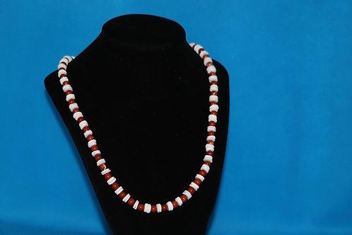 White River Shell Red Jasper (158) - Necklace : Beaded