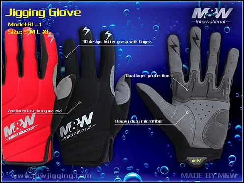 M&W Jigging Glove(BL-1)