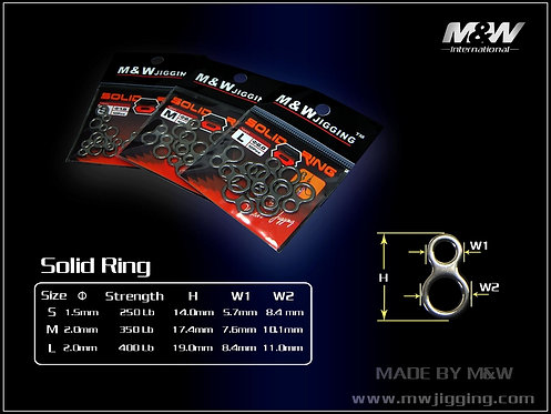 M&W 8 Shaped Solid Ring