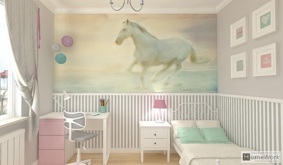 Pokoj dziewczynki - konie