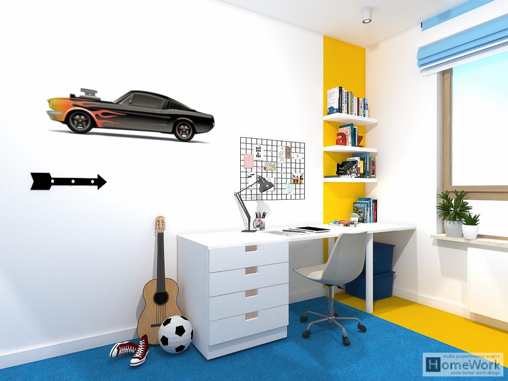 Pokoj chłopca fana motoryzacji