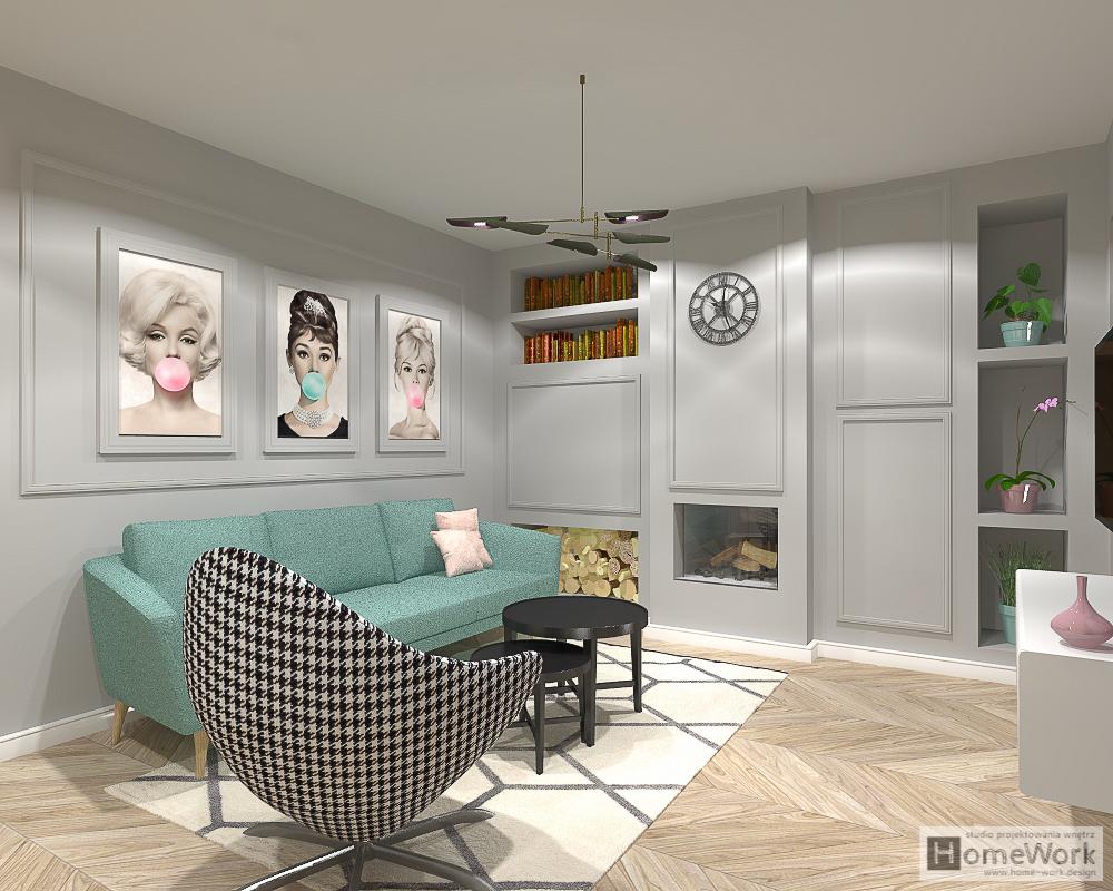 Celebryck szyk, dom (salon+łazienka)