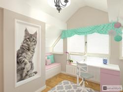 Pokoj dzieciecy poddasze koty
