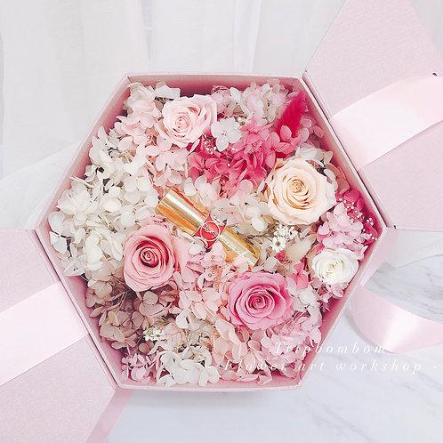 夢幻永生花粉紅禮盒
