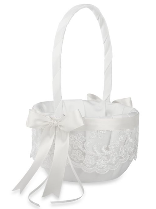 Chantilly Lace Flower Basket