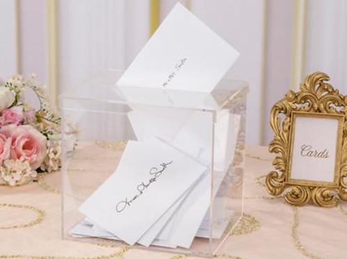 Clear Acryllic Reception Card Box