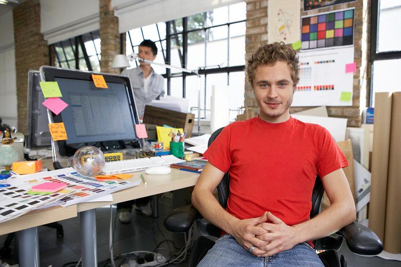 Designer em estúdio