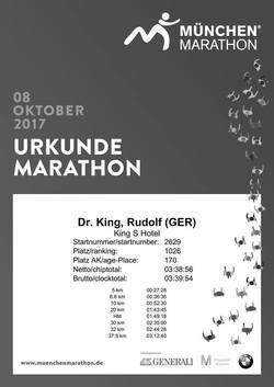 Dr.King Marathon 2017 Urkunde