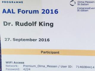 DR.KING beim AAL FORUM 2016 - St.Gallen