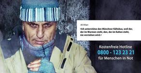 Ali Khan unterstützt den Münchner Kältebus, weil….