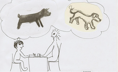 Jake imagines Grandma's dogs