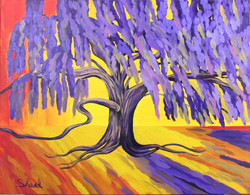 Purple Weeping Willow _ 28W x 22H _WB