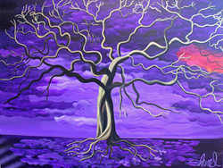 Mysterious night 40 x 30 + border small
