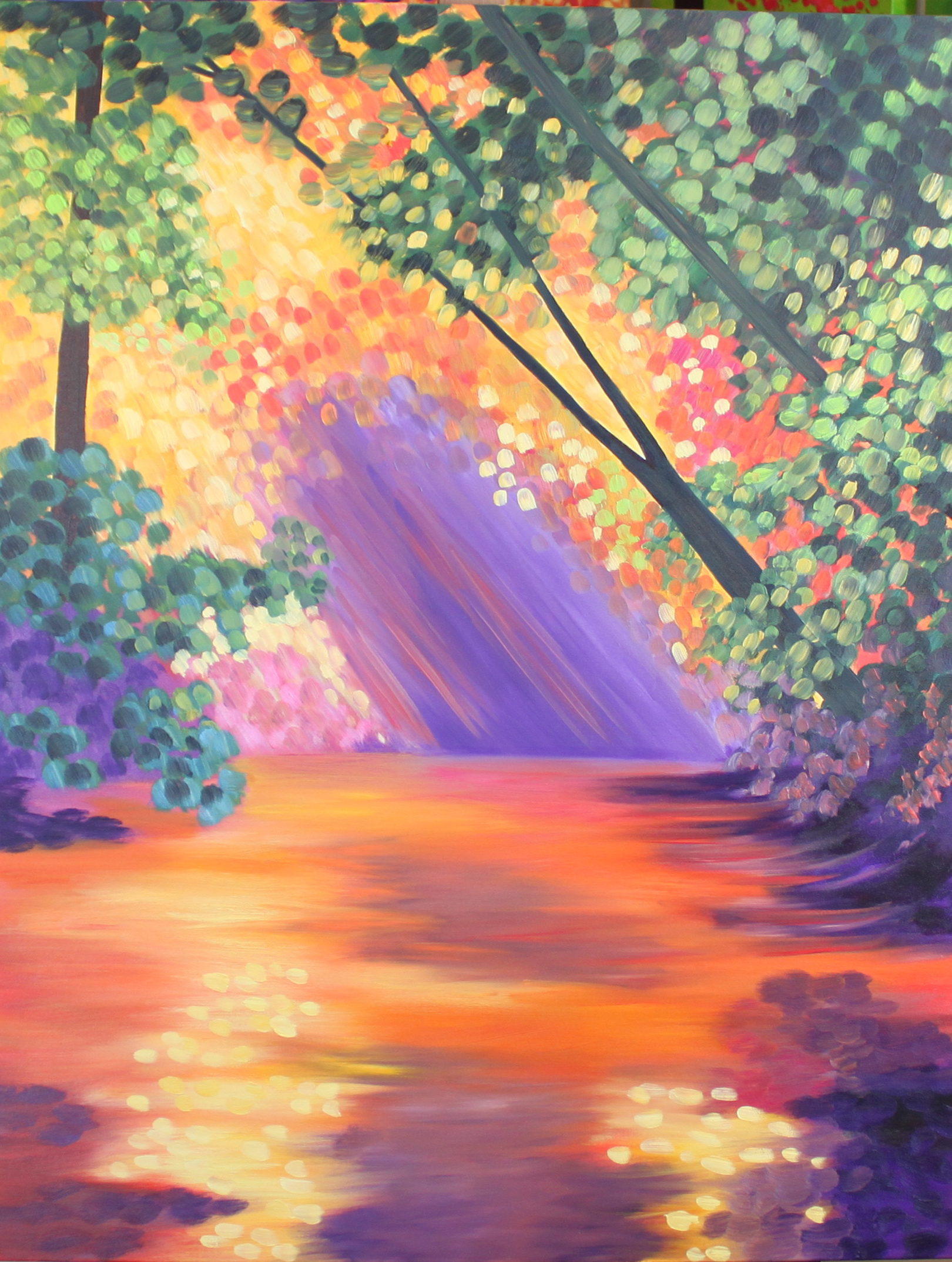 Magical creek Oil _30W x 40L_WB