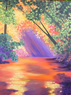 Magical creek Oil _30W x 40L_WB