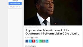 An international dereliction of duty: Ouattara's third term bid in Côte d'Ivoire