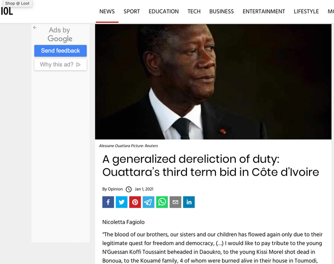 An international dereliction of duty: Ouattara's third term bid in Côte d'Ivoire