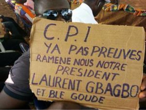 Paris demonstration for the freedom of Laurent Gbagbo
