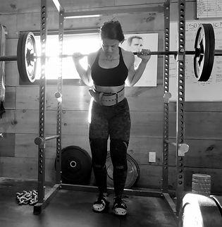 Kevlar Performance - Girl squatting in Burlington, ON
