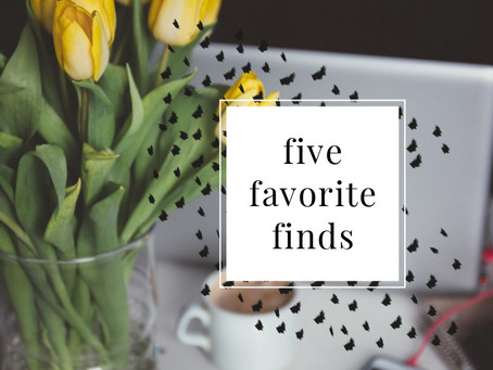 Five Favorite Finds - August Edition