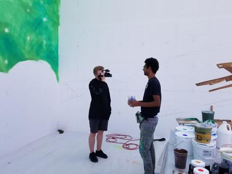 EHS EST Students Visit Mural Site