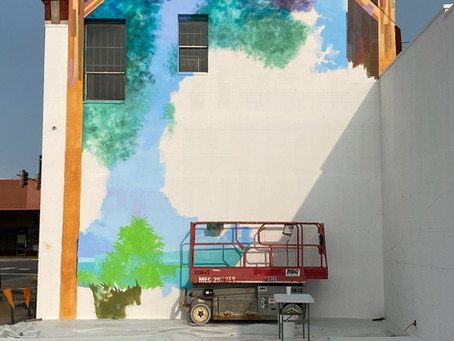 September 13, 2020 Day 2 of painting on the wall