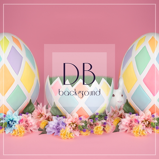 Easter Egg Trio  |  Digital Background