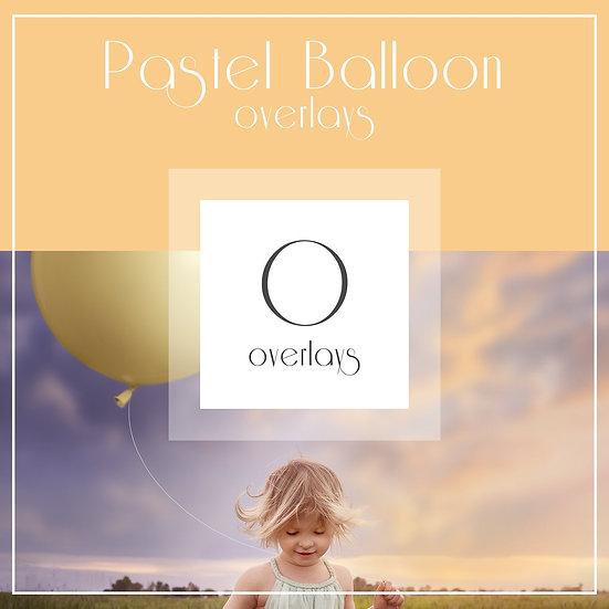 Giant Pastel Balloon Overlays