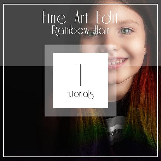 Rainbow Hair - Fine Art Edit