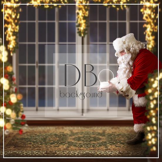 Santa Handing Snow Globe