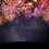Thumbnail: Silhouette Firework Digital Background  |  New Years Digital Background  |  Fire