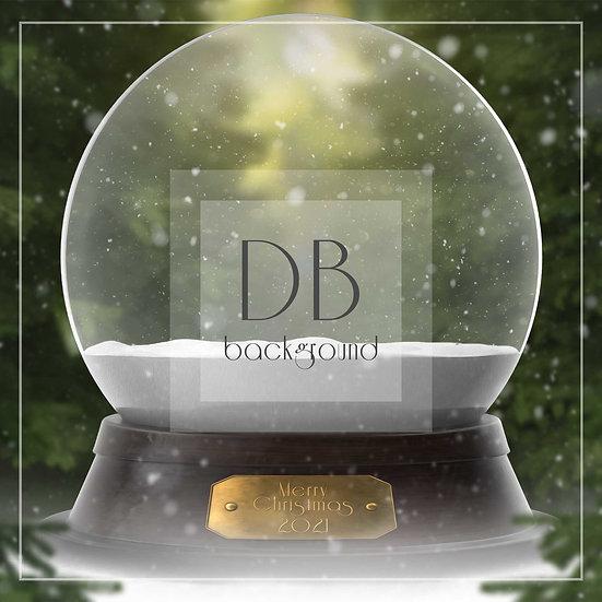 Evergreen Snow Globe Digital Background