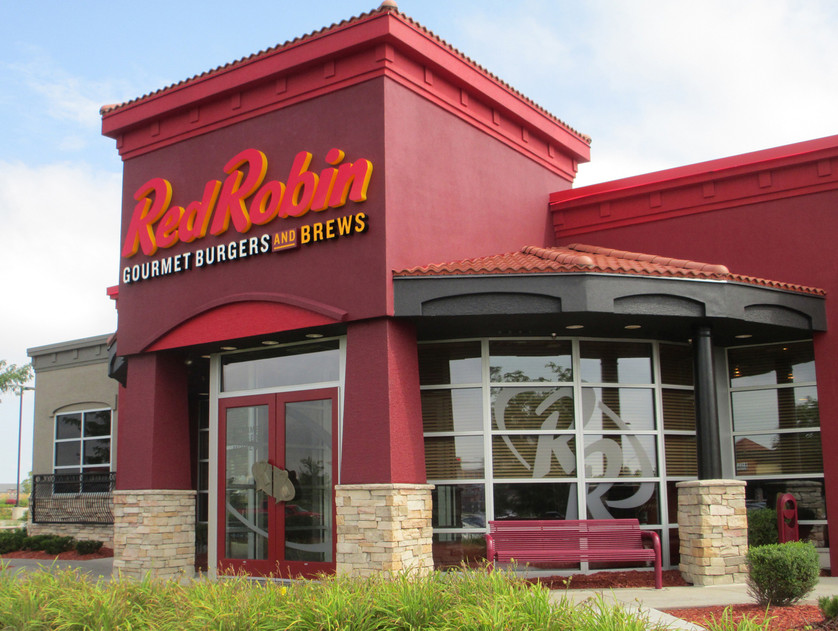 Red Robin lighted sign letters and etch glass window film graphics.JPG