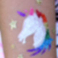Unicorn glitter tattoo
