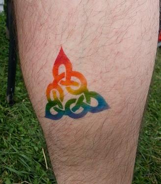 Rainbow Celtic Knot