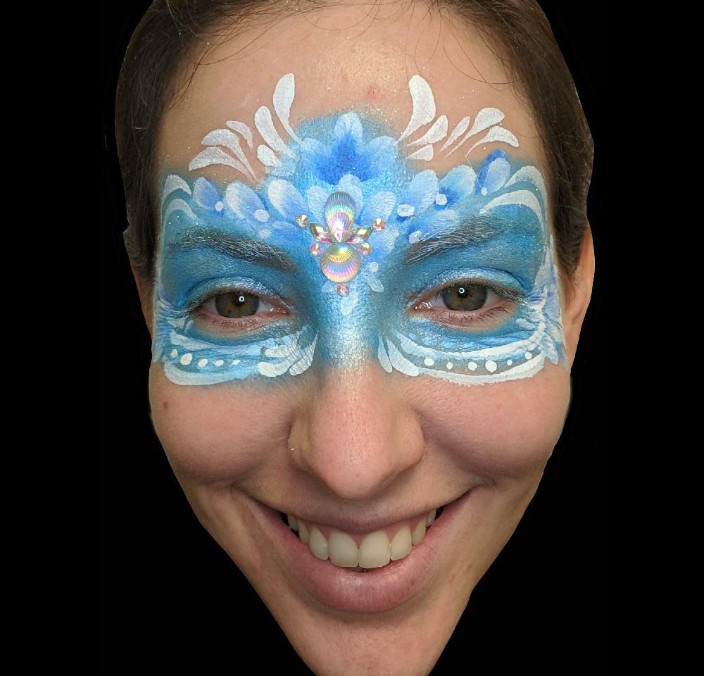 Blue Flowers Mask