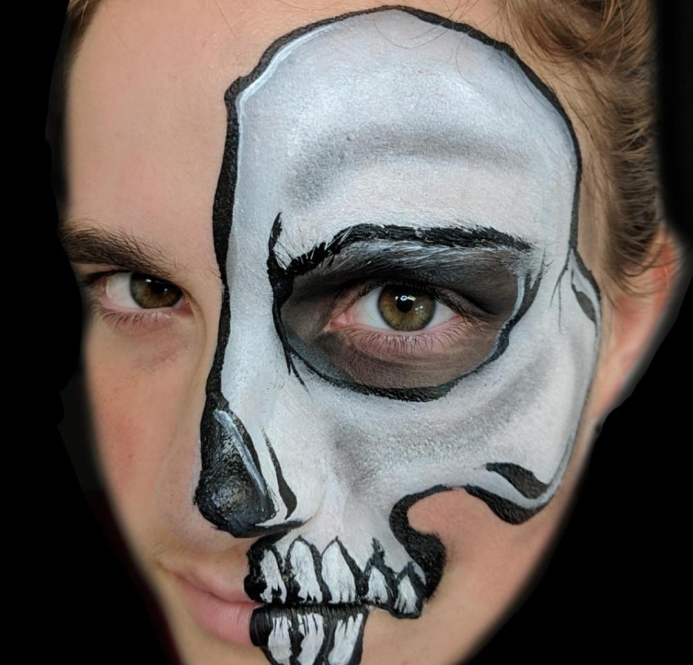 Skull Half Face