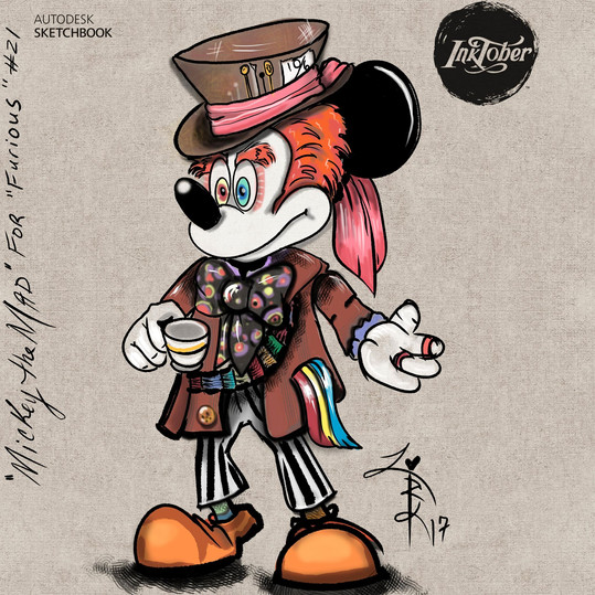 Mickey as the Mad Hatter inspired by Disney