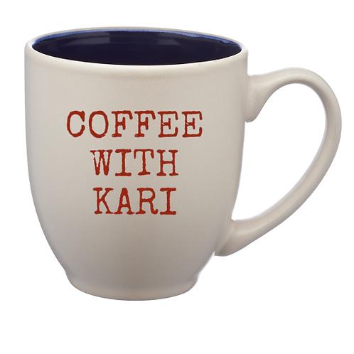 "Blue ""Coffee with Kari"" 16 oz. Mug"
