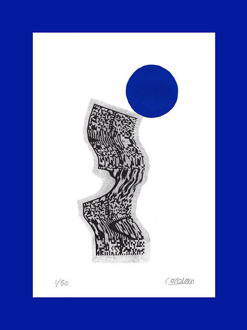 QR CODE PLAYTIME - Blue Circle