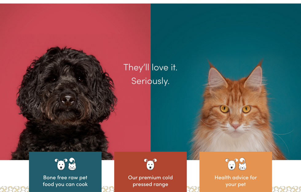 Commercial photography for Hug Pet Food