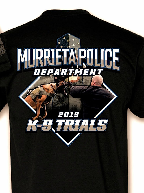 2019 MPD K9 Trial T Shirt - Size Large