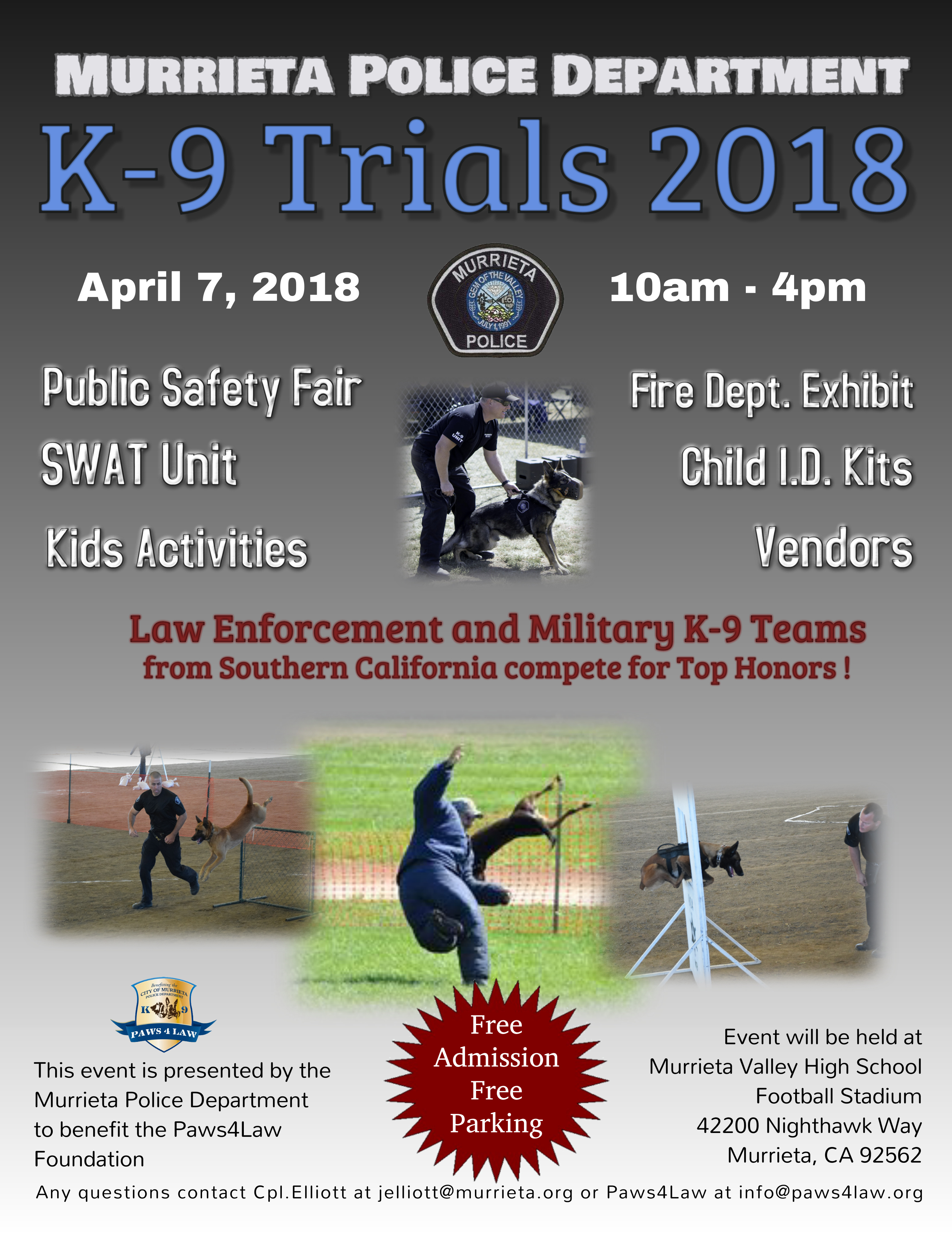 So Cal Law Enforcement K-9 Trials in Murrieta California 4 7