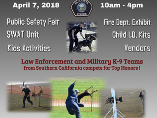 Murrieta Police K-9 TRIALS to benefit  Paws4Law Foundation April 7 2018