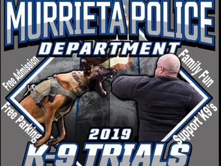 Murrieta Police Dept K-9 Trials to benefit the Paws4Law Foundation