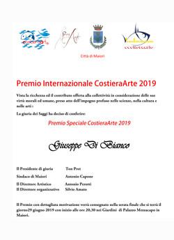 Premio Speciale CostieraArte 2019 (GDB).